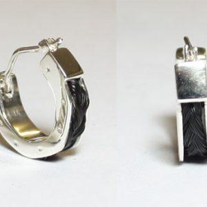 www.galope.nl-zilveren creolen hoefijzer klein OZ404 horsehair
