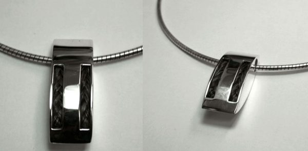 www.galope.nl-zilveren hanger dubbele paarden haar vlecht HZ308 dubbel