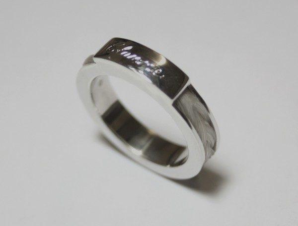 www.galope.nl-zilveren ring vlecht paardenhaar rondom gravure RZ101